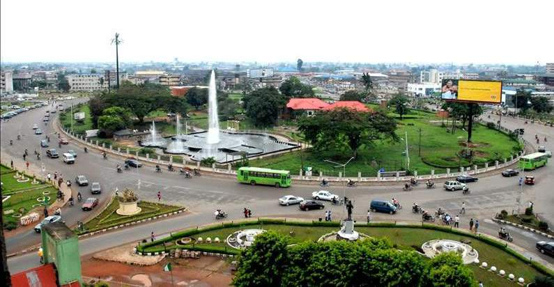 Benin City from above