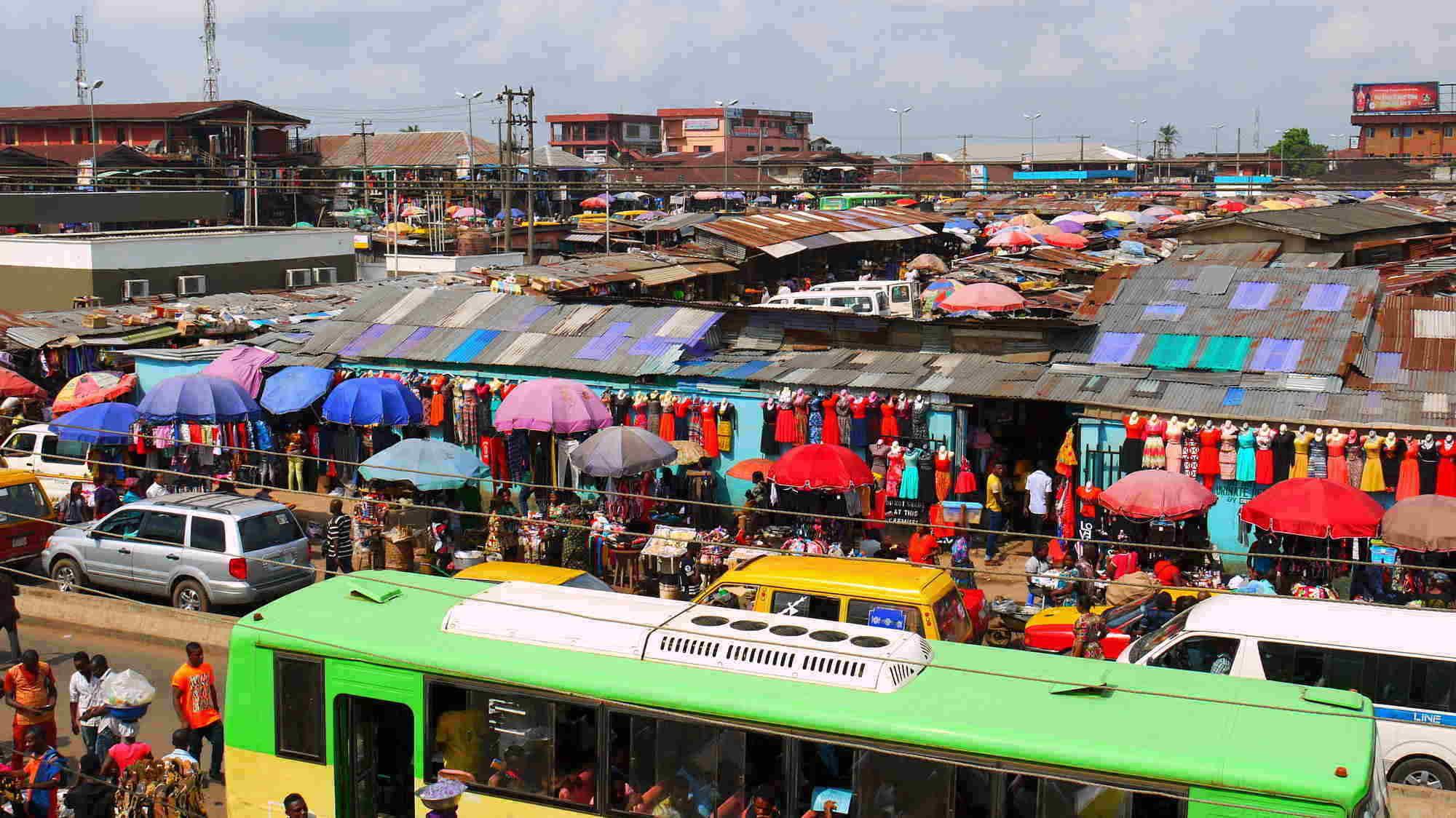 One of Benin Citys Busy Markets